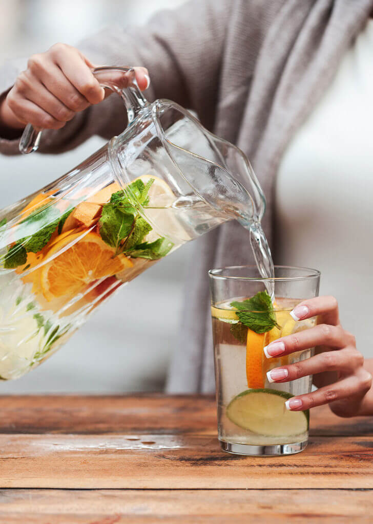 Stay hydrated to build your immune system.